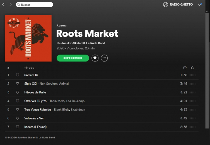 """ROOTS MARKET"" ALBUM DIGITAL YA DISPONIBLE / NOW AVAILABLE"